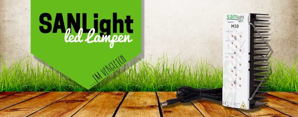 Titelbild mit SANlight Pflanzenlampe