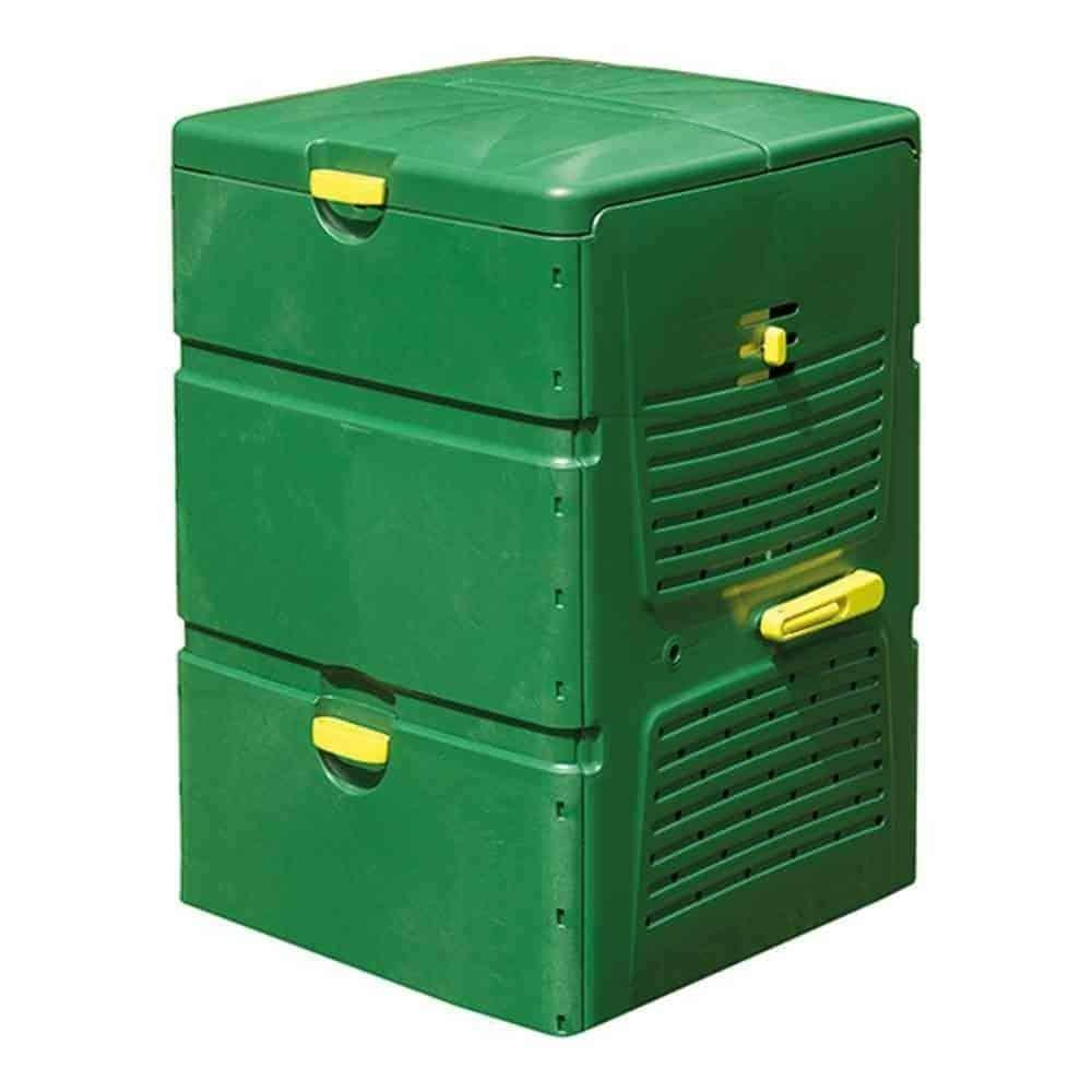 Grüner Komposter aus Plastik