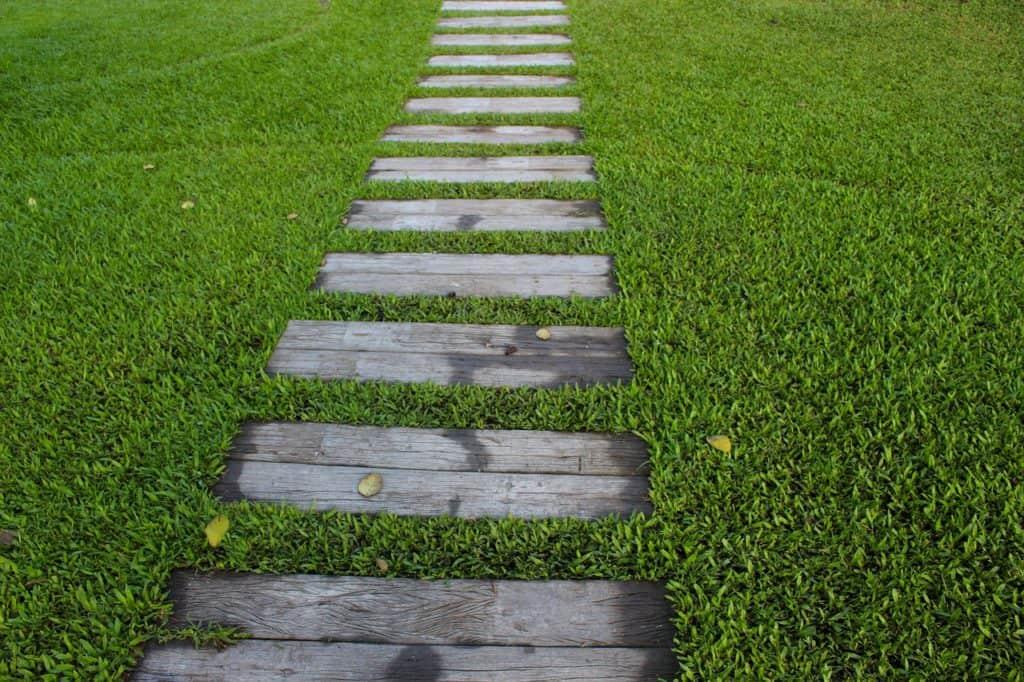 Weg im Rasen
