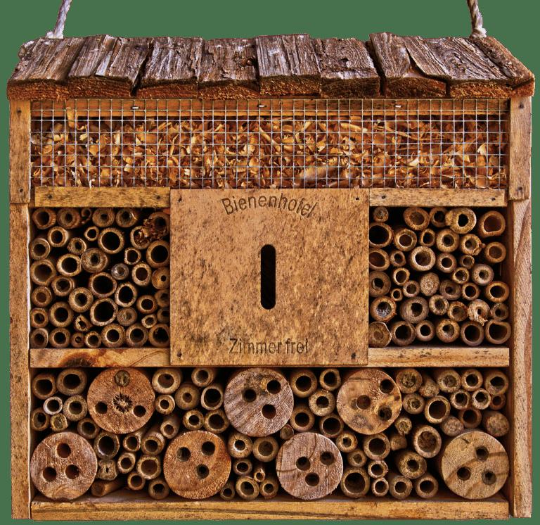 Front eines Bienenhauses