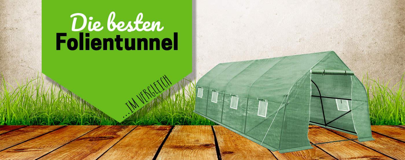 Folientunnel 150 x 45 Frühbeet Pflanzentunnel Gewächshaus Treibhaus Halterungen